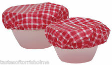 Kitchen Craft 7 Vinyl Assorted.Sizes Elasticated Reusable Food Bowl Covers