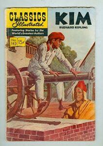 Classics Illustrated #143 February 1958 G/VG Kim - Original Edition