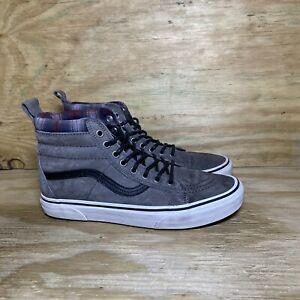 Vans Scotchgard Hi Top Shoes Women's 9.5 / Men's 8 Gray Black Sneaker