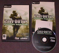 Call of Duty (COD) 4: Modern Warfare for PC, DVD-ROM - Complete VGC