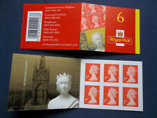 Mb2 6 First Class Self Adhesive Definitive Nvi Stamp Booklet Queen Victoria