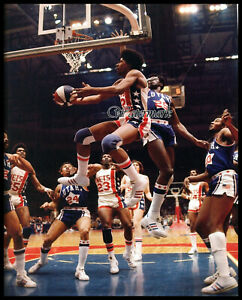 ABA New York Nets Dr J Julius Erving vs Utah Stars Game Action  8 X 10 Photo