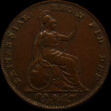 Great Britain Copper Farthing 1839 Victoria coin United Kingdom condition