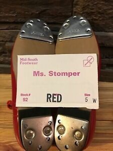 Ms. Stomper Size 5 W (Wide) WOMENS Clogging Shoes,With Steven Stomper Taps