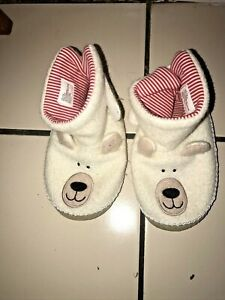 HANNA ANDERSSON GIRL BOY WINTER BEAR SLIPPERS SIZE 2/3 YOUTH