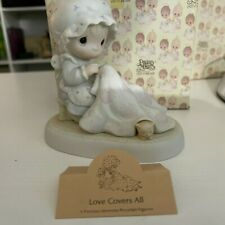 Precious Moments Figurine 1986 Love Covers All #12009 w/ box