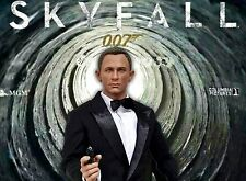 1/6 James Bond Clothing & Daniel Craig Head Sculpt Sean Connery Roger Moore Gun