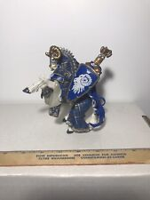 Papo Fantasy Knights Blue Rearing RAM  HORSE Ram Coat Arms 2007 Incomplete