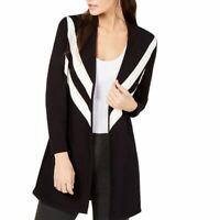 ALFANI NEW Women's Striped Open-front Cardigan Sweater Top TEDO