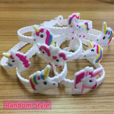 2/10pcs Unicorn Bracelet White Band Party Bag Fillers Christmas Gifts For Kids