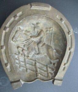 Vintage Equestrian Ashtray Bronze