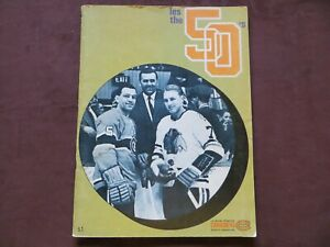 Jan. 3rd 1970 Oakland Seals vs Montreal Canadien Official Special Program Hockey