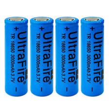 4pcs 3000mah 3.7V 18650 Li-ion Flat Top Power Battery Flat Head For Vape Mod USA