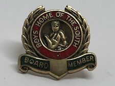 Vintage 1960's BOYS HOME OF THE SOUTH Board Member Lapel Pin