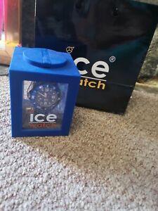 Ice Watch • Unisex Silicone Fluorescent Blue Watch In Original Box