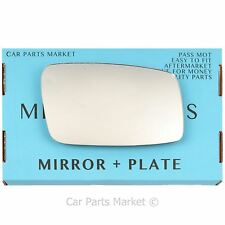 Right Driver side Wing door mirror glass for Volvo 850 1992-1997 +plate