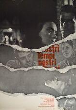 TEMPI NOSTRI ZIBALDONE N.2 Vittorio de Sica Yves Montand Filmplakat A1 GEROLLT