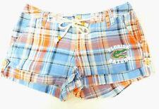 Women's E5 College Classics Blue Orange Plaid Florida Gators Shorts Size 5