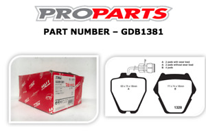 AUDI S4 1999-2001 2.7 LTR TWIN TURBO FRONT BRAKE PADS - GDB1381
