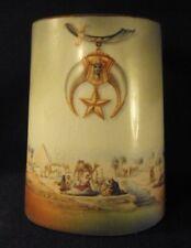 Shriner FreeMason mug stein egyptian desert scene china porcelain   B3