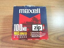 MAXELL 100MB MAC FORMATTED ZIP 100 / 5 PACK ZIP DISC DRIVES