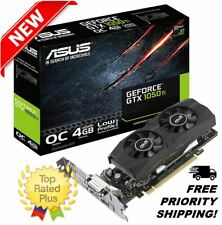 GTX 1050 Ti 4GB Low Profile Graphics Card OC ASUS Nvidia GeForce w/ Backplate