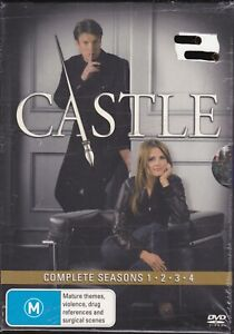 Nathan Fillion - Castle - Series/Seasons 1 - 4 ~ New/Sealed - Genuine Region 4