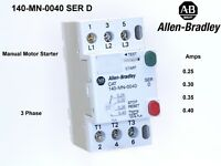 Allen-Bradley 140-MN-0040 Manual Motor Starter Ser D  DIN rail mount switchable
