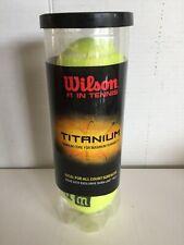 Wilson Titanium 3 Tennis Balls New Sealed Nib Titanium core maximum durability