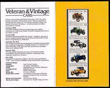 Australia 1984 Veteran And Vintage Cars Presentation Pack - Complete Set - MUH