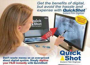 QuickShot QS-320 Instant X-Ray Film Digitizer / Scanner. X-ray film to digital.
