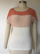 BNWT, Designer LAURA ASHLEY, Silk/ Jersey Tee with tags, $99.95, XS