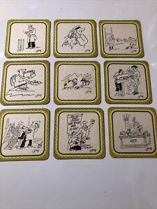 9 x Golden Virginia Cartoon Beer Mats (7.3)