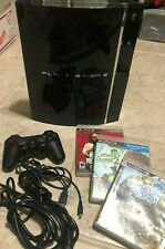 PS3 PlayStation 3 Launch 60gb - Backwards Compatible PS2 CECHA01 w/Games Tested!