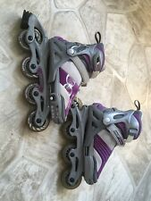 Girls purple and gray 4 Size Adjustable Rollerblades
