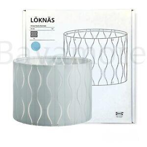 "IKEA LÖKNÄS Lamp shade, blue/silver color 13"" BRAND NEW"