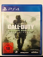 PS4 Call Of Duty: Modern Warfare Remastered (Sony PlayStation 4, 2017) OVP