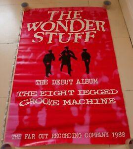 "Wonderstuff Eight Legged Groove Machine Vintage 60"" x 40"" 1988 Billboard Poster"