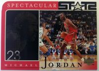 1998 98 Upper Deck Spectacular Stats Michael Jordan #28, Die Cut, Chicago Bulls