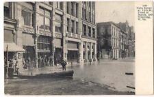 1907 Flood Main Street At 12th WHEELING WEST VIRGINIA WV Antique Unused Postcard