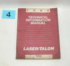 1990 Plymouth Laser Eagle Talon Technical Information Manual USED CONDITION #4