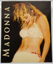 MADONNA RARE 24x20 cms ENGLISH POSTCARD WITH BIO / BOYTOY REFLEX MARKETING1986