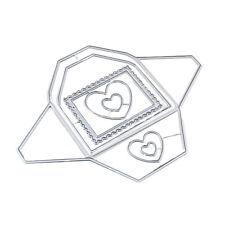 FT- BL_ AU_ 1pc Heart Envelope Cutting Dies Scrapbook Emboss Paper Cards Craft S