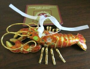 Dillards Trimmings CLOISONNE Lobster Crawdad CHRISTMAS ORNAMENT - NEW NWT
