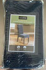 sure fit dining chair slipcover Stretch Pique Navy X 4