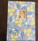New Amy Butler Photo Scrapbook Album Grey Blue Floral 9x13