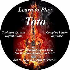 Toto Guitar TABS Lesson CD 54 Songs + Backing Tracks + BONUS!