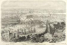 DRESDEN - VOGELSCHAU - SÄNGERBUNDFEST - nach Eltzner - Holzstich 1865