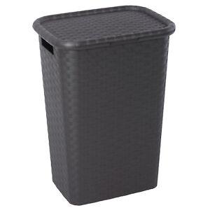 Wäschekorb Rattan Flechtoptik Wäsche Box Truhe Sammler Tonne Behälter Modern 65L