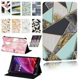 Leather Smart Stand Case cover Fit Asus MEMO Pad 7 / 8 / 10 / Pad HD 7 + Pen